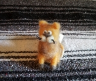 Felted-Art-Figure-Orange-Cat