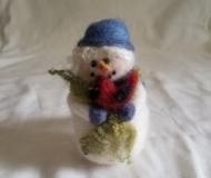 Felted-Art-Figure-Snowman