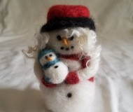 Felted-Art-Figure-Snowoman