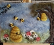 Felted-Art-Picture-Bee-Happy