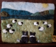 Felted-Art-Picture-Border-Collie-Friends
