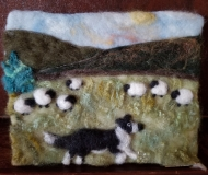 Felted-Art-Picture-Border-Collie-at-Work