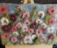 Felted-Art-Picture-Flowers