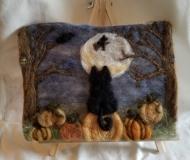 Felted-Art-Picture-Halloween-Scene