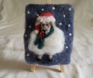 Felted-Art-Picture-Holiday-Sheep