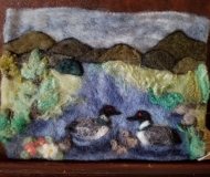 Felted-Art-Picture-Loons